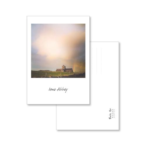 Iona Abbey under a rainbow