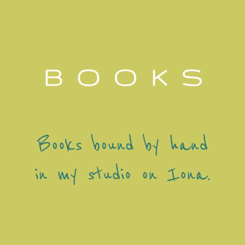 Hand bound books